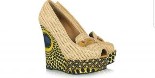 Burberry Prorsum Woven and Printed Wedges