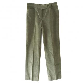 Loro Piana sage green cord pants
