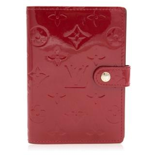 Louis Vuitton Red Patent Small Agenda Cover