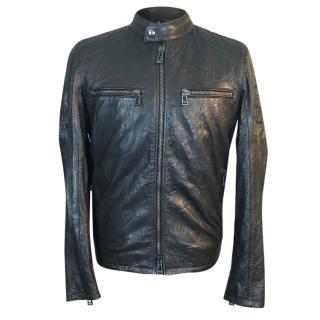 Belstaff Archer Wrinkled Leather Biker Jacket