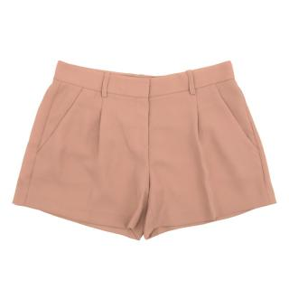 Theory Antique Pink Crepe Shorts