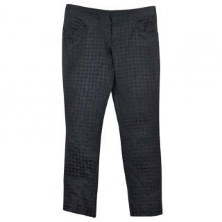 GUCCI black cotton trousers