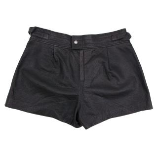 Isabel Marant Black Leather Shorts