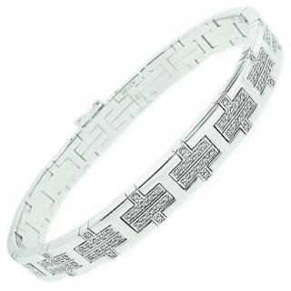 Hermes Kilim Bracelet white gold and diamonds