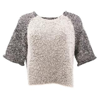Phillip Lim Short Sleeves Tweed Top
