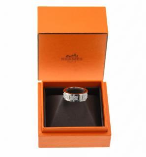 Hermes Kilim White Gold And Diamonds  Ring