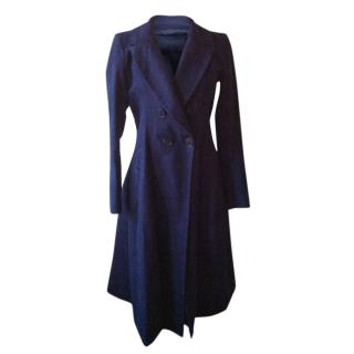 Donna Karan blue fit and flare Coat
