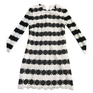 LK Bennett black and white Crochet dress