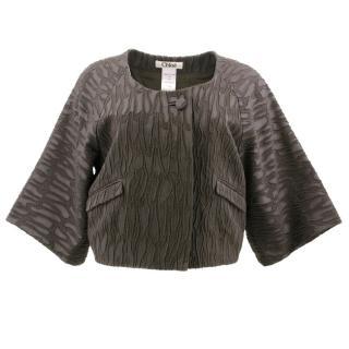 Chloe Brown Pattern Short Jacket