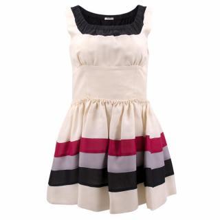 Miu Miu Cream Silk Dress