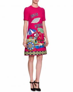 Dolce & Gabbana Italia Forever Applique Dress