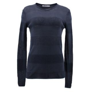 T by Alexander Wang Navy Striped Jumper