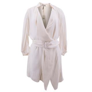 Max Azria Cream Shirt Dress with Belt