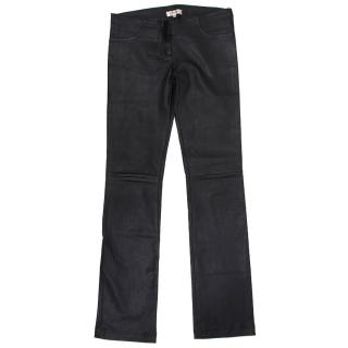 Jitrois Leather Straight Trousers