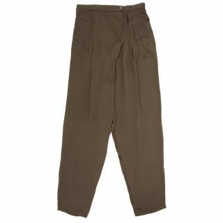 Stella McCartney Green Silk Trousers
