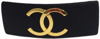 Chanel CC Satin French Barrette