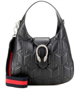 Gucci Dyonysus Black Leather Hobo Bag - current season