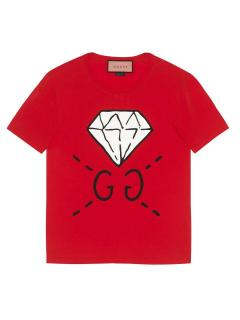 Gucci GG Gucci Ghost Diamond T Shirt