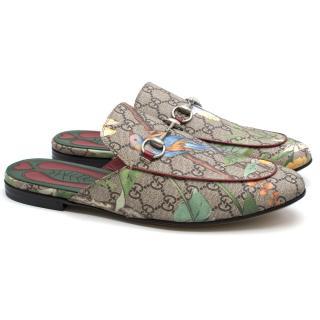 Gucci Princeton GG Supreme Tian Print Slippers