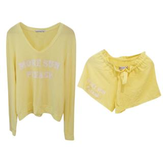 Wildfox sweater and short matching set