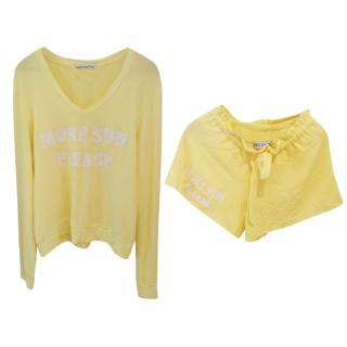 Wildfox sweater and short matching set