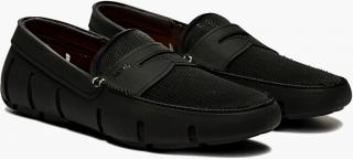 SWIMSBlack Rubber Penny Loafers