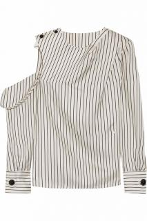 Monse pinstripe off the shoulder top