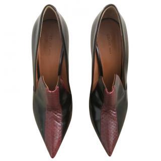 Celine snakeskin leather pumps
