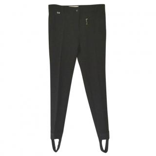 Fendi black stirrup pants