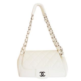 Chanel vintage Cream quilted shoulder bag