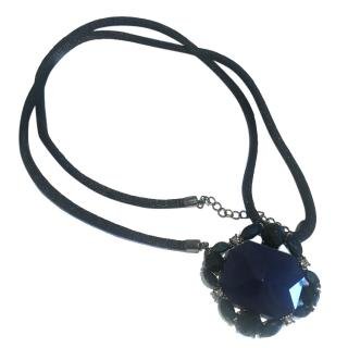 Armani Black and Blue Necklace