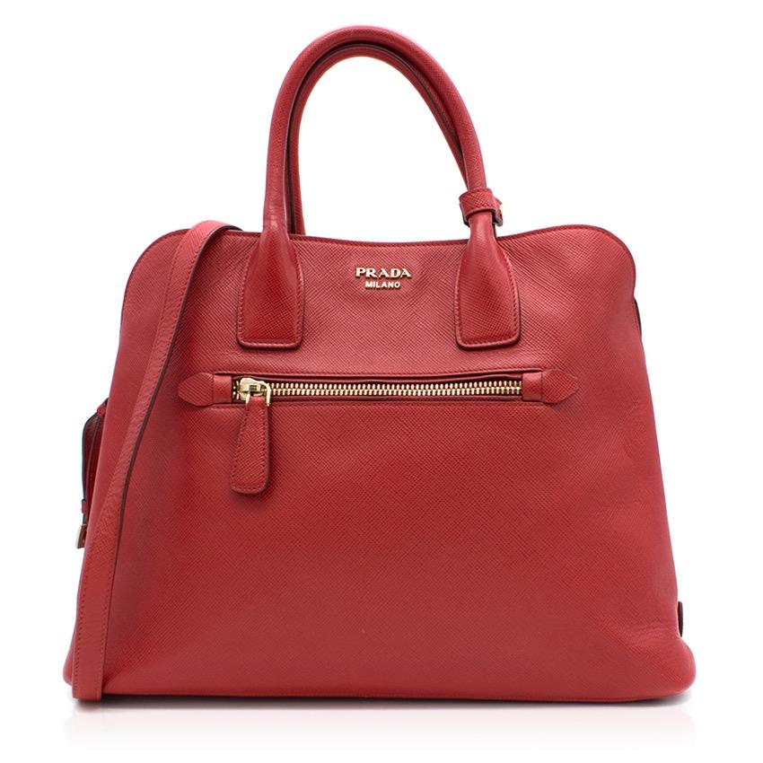 Prada Red Tote Bag
