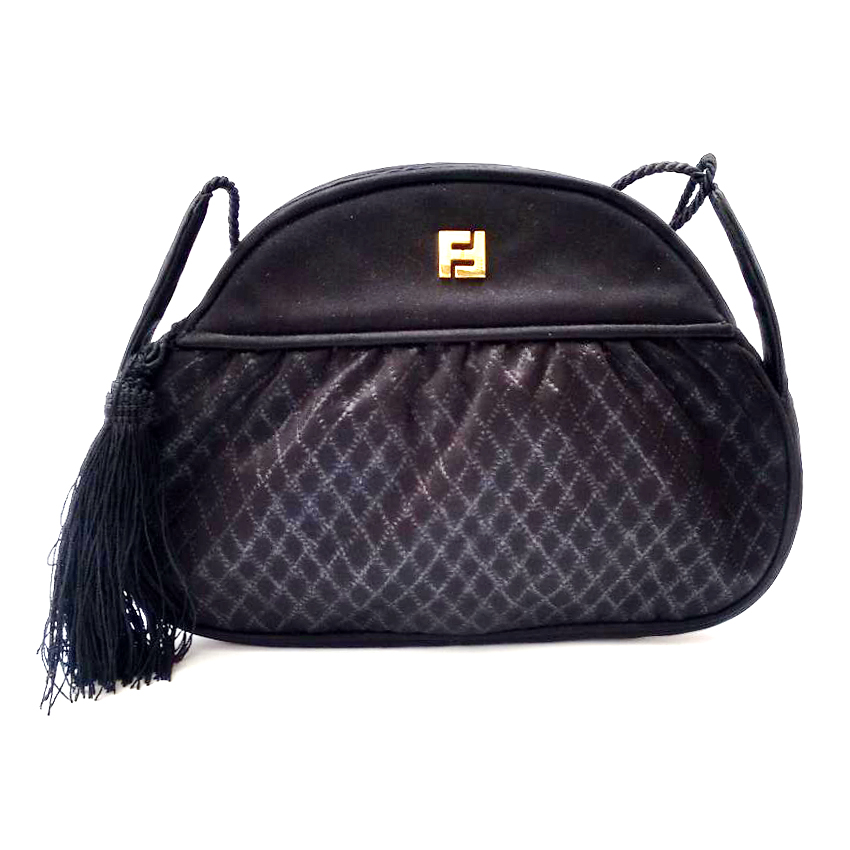 432b25d870 Fendi Vintage Black Crossbody Shoulder Bag