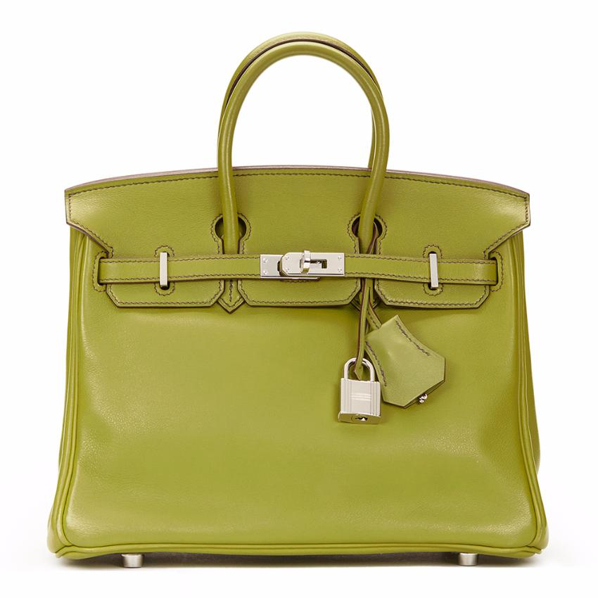 3a3b6d3d45 Hermes Birkin Vert Anis Swift Leather Birkin 25 Cms