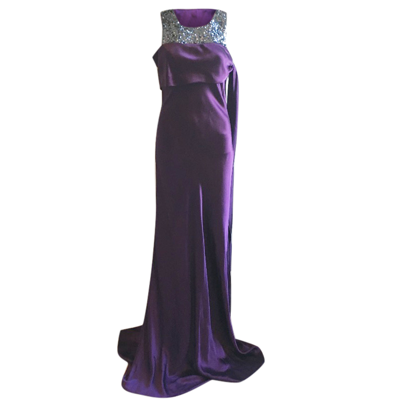 Amanda Wakely silk evening gown