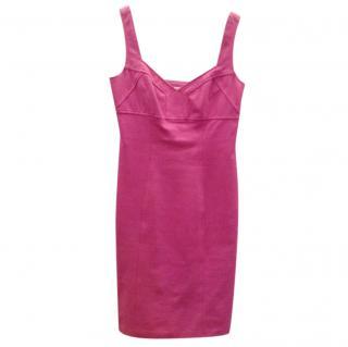 DVF pink Jersey shift dress