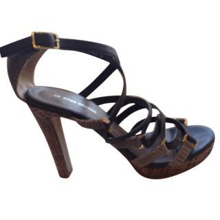 Hugo Boss grey Strappy sandals