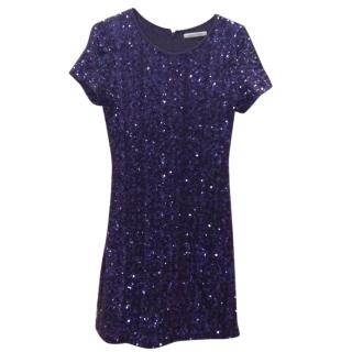 Velvet Sequinned jersey shift
