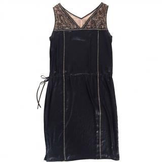 BCBG Max Azria Little Black Dress w/ Lace Detail