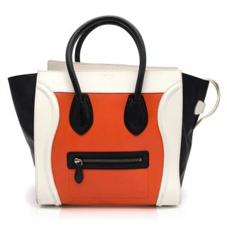 Celine Tricolor Mini Luggage Tote