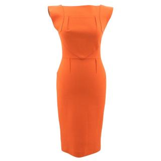 Roland Mouret Orange Cocktail Dress