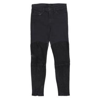 J Brand Grey Half Leather Jeans
