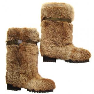 Marni fur boots