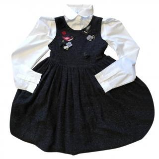 Dolce & Gabbana Gir's Wool Pinafore dress