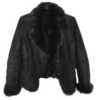 Joseph Black Shearling jacket