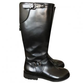 Galucci black leather faux fur lined Boots