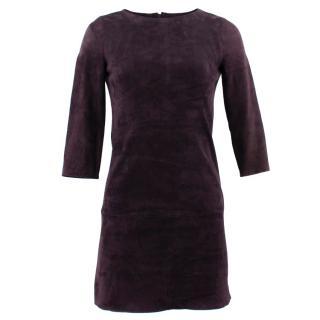 Jitrois Purple Suede Dress