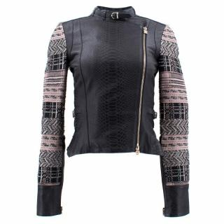 Herve Leger Black Lamb Leather Jacket