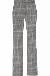 A.L.C. grey checked wool flared trousers