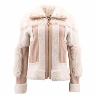 Chloe Brown Lambskin Leather Reversible Jacket